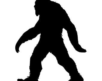 Bigfoot Sasquatch Die-Cut Decal Car Window Wall Bumper Phone Laptop