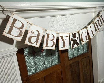 Rustic Baby Banner, Baby Shower Banner, Baby Decorations, Baby Photo Prop