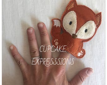 Cute Fox Finger Puppet - Quiet Time Play Toy - Imaginative Play - Woodland Forest Animal - Can Choose Custom Colors