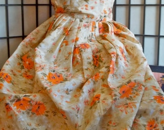 1940's/ '50's Starlet Orange Day Dress