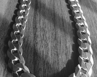 Heavy thick sterling silver men chain