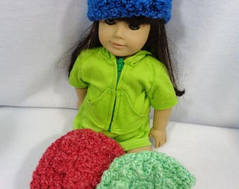 18 Inch Doll Hat, Choose Your Color Beanie for American Girl, Winter Cap for Doll, Gift for Girl, Stocking Stuffer, Easter Basket Gift