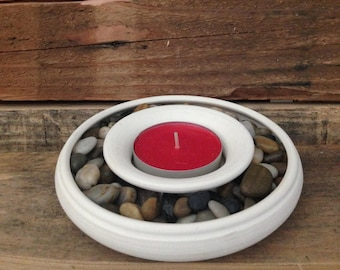 Hand Crafted Ceramic Planter/Candle holder