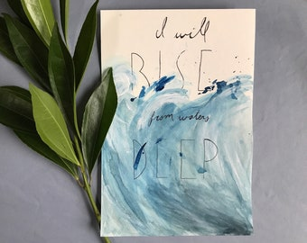 Easter resurrection waves watercolor print Hillsong