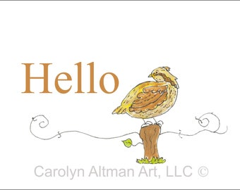 Bobwite Quail Noted Cards Packaged | Quail Painting Invitations Packaged