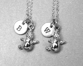 Ghost necklace, best friend necklace, halloween necklace, ghost charm, BFF necklace, friendship necklace, personalized, initial necklace