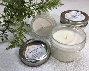 Soy Candle Clearance / 4 oz. / Hand Poured / Balsam & Fir / Strong Scent / Air Freshener /