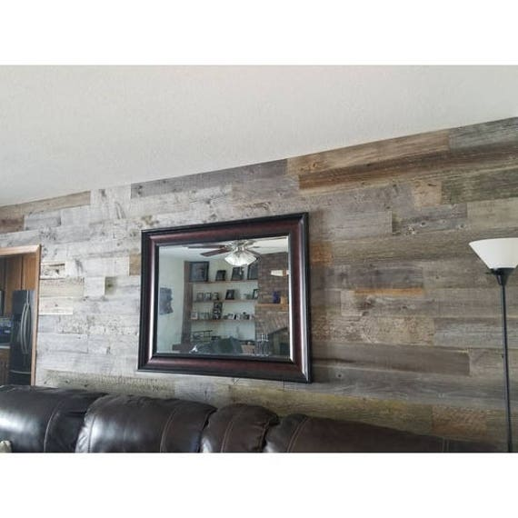 Grey Reclaimed Wood Accent Wall 20 Square Feet Per Order Real