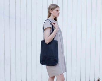 Black Leather Bag Women, Shoulder Leather Bag , Black Purse, Leather Shoulder Bag, Black Handbag, Medium Leather Bag - Black Kenton