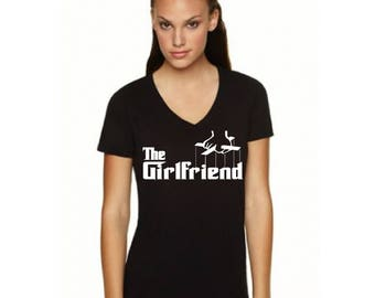 The Girlfriend - Woman Next Level Apparel Idea V Neck
