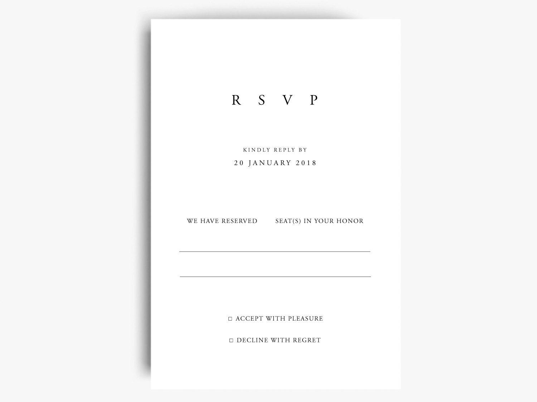 Charmant Hochzeit Rsvp Karten Vorlage Fotos - Beispiel ...