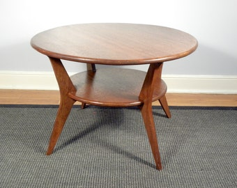 Vintage Mid Century Solid Wood Accent  End Table