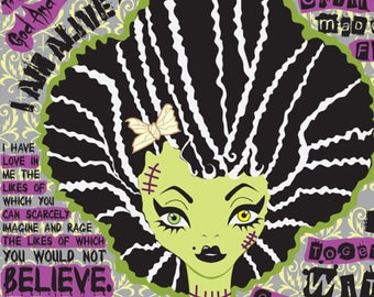 Bride Of Frankenstein With Quotes From Mary Shelley