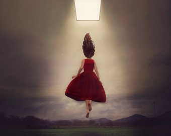 On the Up and Up - Levitation Photography - Conceptual Print - Fine Art Photo