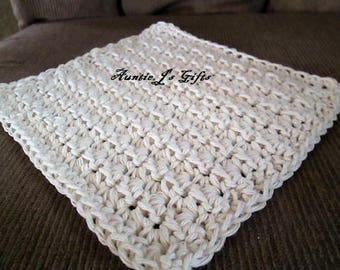 Crochet PATTERN for dishcloth/washcloth, unique texture, adjustable sizes