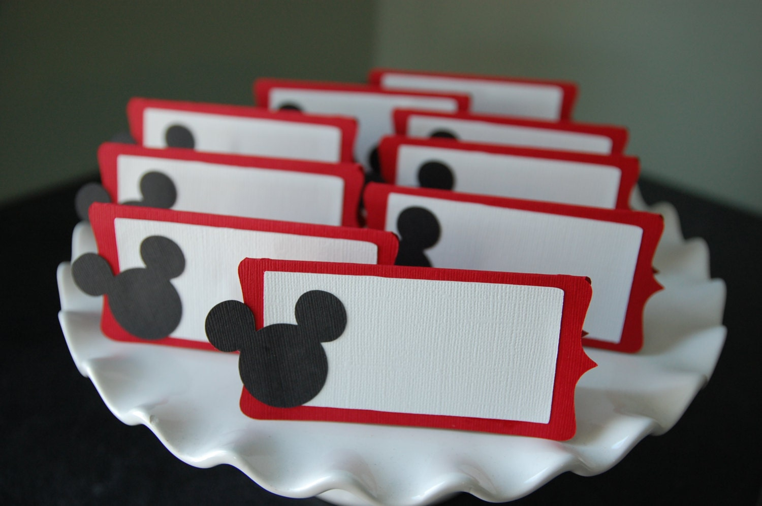 Mickey Mouse Food Labels Place Cards Mickey Mouse Birthday