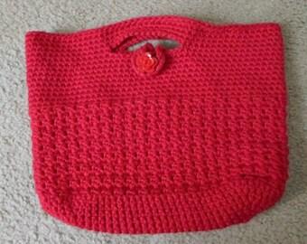 Purse - City Purse - Crochet - Red Crochet Purse