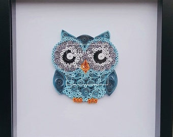 Handmade paper quilled owl