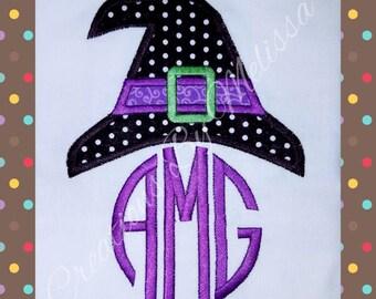 Witch monogrammed shirt/ Halloween Witch Shirt/ Witch Shirt/ Girls Halloween Shirt