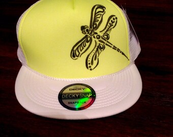 Hand drawn trucker hat. FREE Shipping!