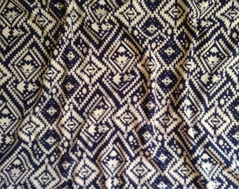 "Liverpool Navy Aztec Geo 58/60"" Apparel Fabric by the Yard"