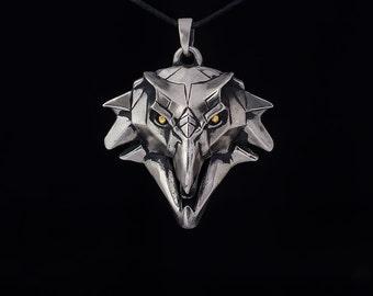 Griffin School Medallion Cosplay Pendant, white bronze, handmade ... gryphon school