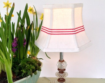 Red Stripe Lampshade