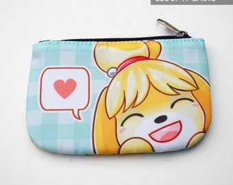 Animal Crossing Isabelle Zip Coin Purse