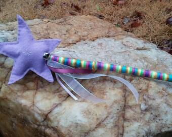 Light Purple Magic Star Fairy Princess Wand READY TO SHIP