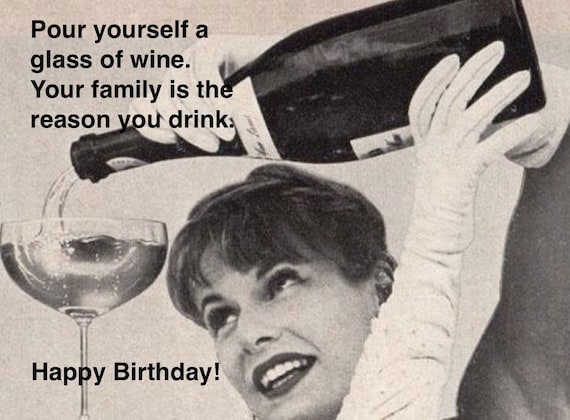 Funny mother birthday card hilarious retro card vintage card bookmarktalkfo Image collections