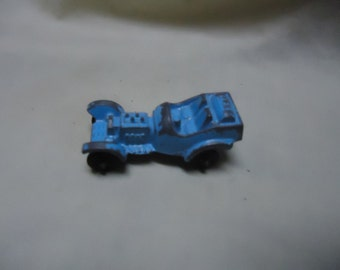 Vintage Tootsietoy Metal Old School Blue Toy Race Car, collectable, USA, Roadster