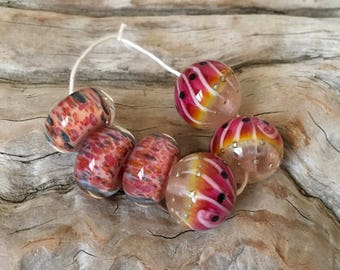 INVENTORY REDUCTION — Handmade Artisan Lampwork Boro Beads - 2 Trios