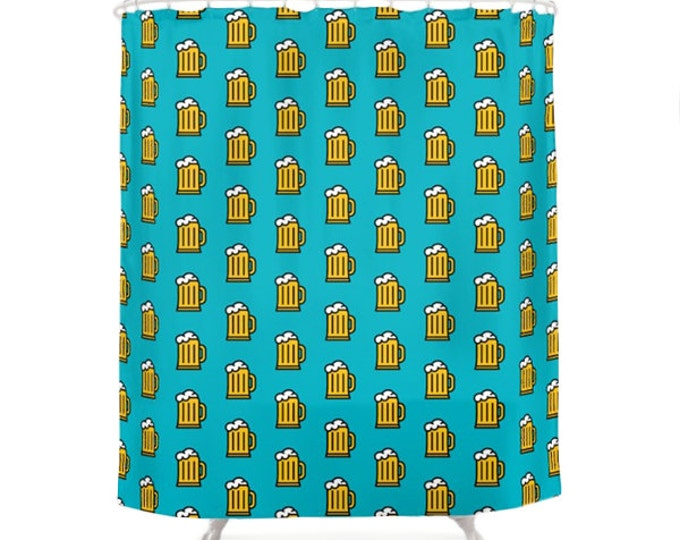 Beer Shower Curtain - Icon Prints: Drinks Series