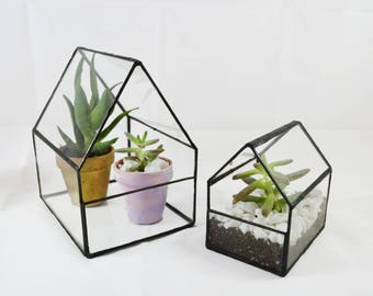 Glass Greenhouse Terrarium Made From Salvaged Windows