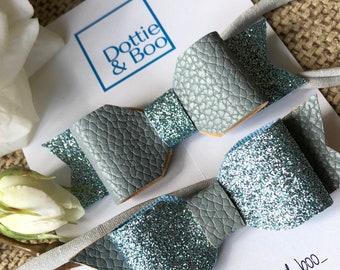 Blue/grey Bonnie Bows