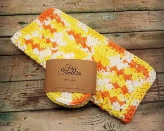 Washcloth and Scrubby Set * Ready to Ship * Handmade Wash Cloth and Facial Scrubby Set