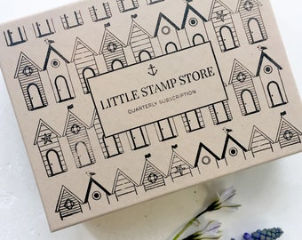 Gift Subscription - Quarterly subscription box - Rubber stamp subscription - Little Stamp Store subscription box - Subscription gift - Her
