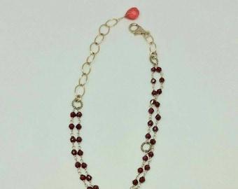 Beatiful Red Garnet double bracelet.
