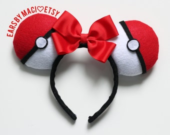 Pokéball Pokémon Inspired Minnie Ears