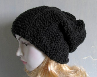 Womens Winter Hat Hand Knit Hat Slouchy Knit Hat Winter Beanie Mens Winter Hat Mens Slouchy Beanie Mens Slouch Beanie Women Knit Hat
