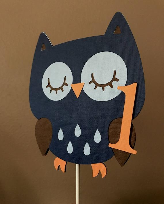 Owl Cake Topper Woodland Cake Topper Owl 1st Birthday