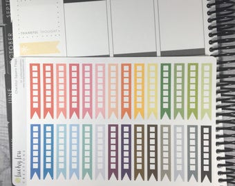 Checklist (SQUARE) FLAG Stickers - Option to Customize Colors