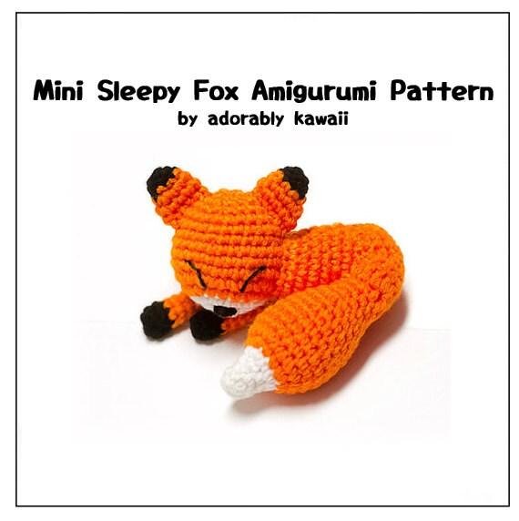 Mini Sleepy Fox Amigurumi Pattern, Fox Plush Pattern, Small Fox ...