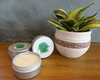 Small soy candle tin - hand poured with your choice of fragrance