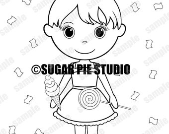 Personalized Printable Sweet Shoppe candy  Birthday Party Favor childrens kids coloring page activity PDF or JPEG file