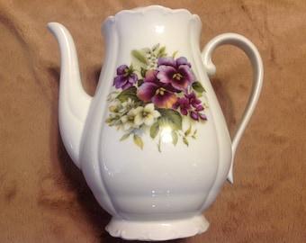Vintage porcelain Haas and Cajzek hand painted tea pot