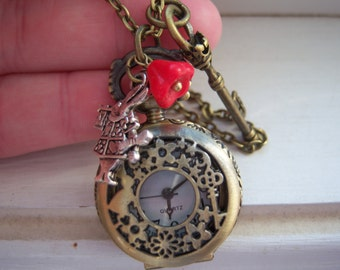 Pocket Watch - Watch  Necklace - Free Gift With Purchase