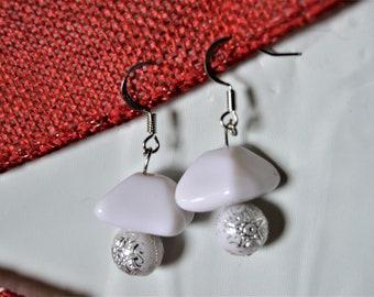 Made Made White Stone Earrins