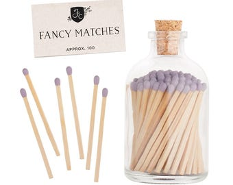 Lavender Purple Matchstick Jar™. Lavender Fancy Matches™. Colored matches. Stocking Stuffer. Gifts for her. Christmas gift. Hostess gift.