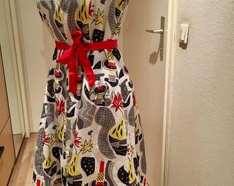 Atomic age midcentury dress